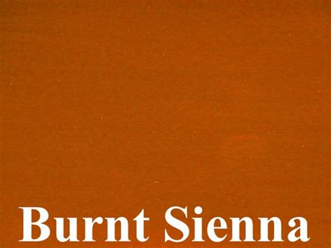 siena color burnt is an iron oxide pigment a warm mid brown