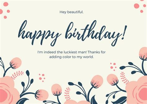Customize 884 Birthday Card Templates Online Canva Birthday Card Template For