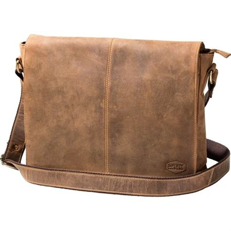 spirit motors vintage leather shoulder bag lt