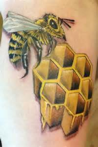 bee with honeycomb by todd lambright tattoos