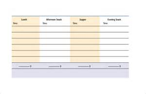 Diabetic Meal Planner Template Meal Planning Template Free Amp Premium Templates