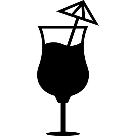 tropical cocktail silhouette cocktail glass with an umbrella icons free download