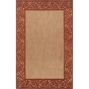 Outdoor Rug Home Depot Artistic Weavers Garden View Terra Cotta 8 Ft 8 In X 12 Ft Area Rug Gdv5202 8812 The Home Depot