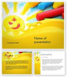 children s day powerpoint template is a free orange