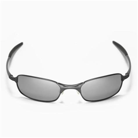 new walleva polarized black titanium lenses for oakley square wire 2 0