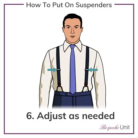 how to put on suspenders 6 easy steps to putting on men s braces