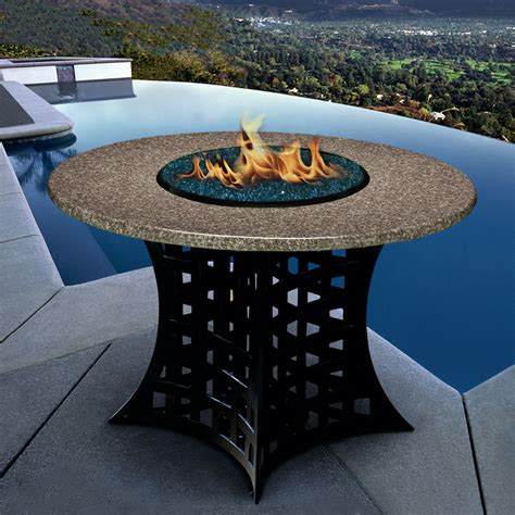 granite table gas pit powder coat made in usa cover