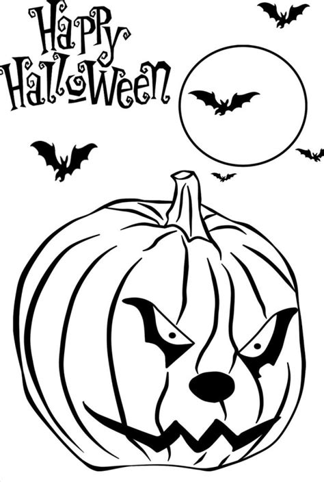 coloring pictures of scary pumpkins scary cartoons for kids cliparts co
