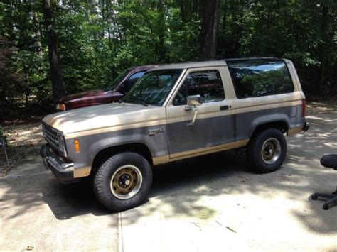 1988 ford bronco ii xlt 4x4 5 speed transmission v6 motor for sale in loudon tennessee united