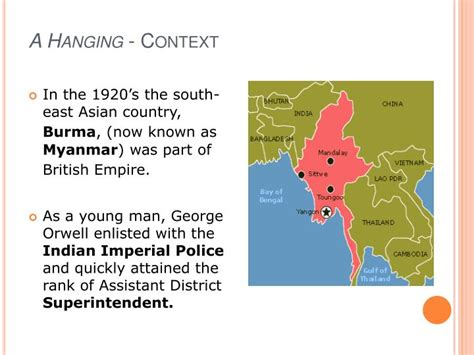 george orwell biography powerpoint ppt a hanging george orwell powerpoint presentation