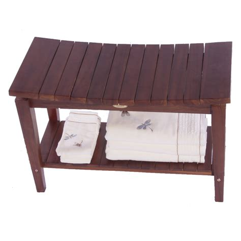 shower bench bamboo bamboo bathroom benches benches