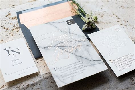 Marble Wedding Invitations 10 marble wedding details for an wedding mywedding