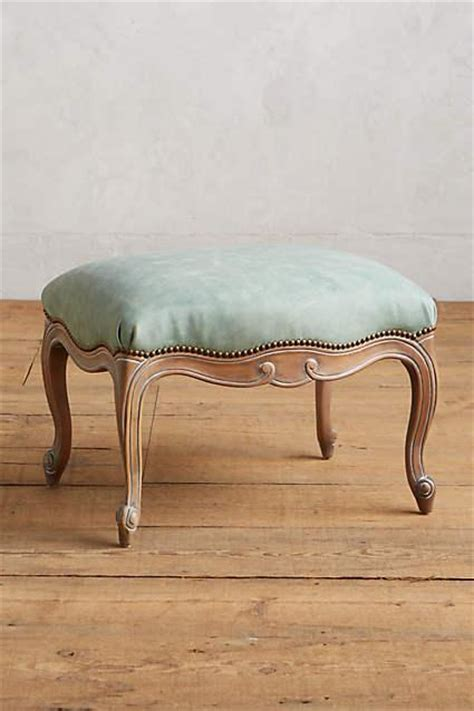 ottoman with wood legs oly tufted leather x frame ottoman