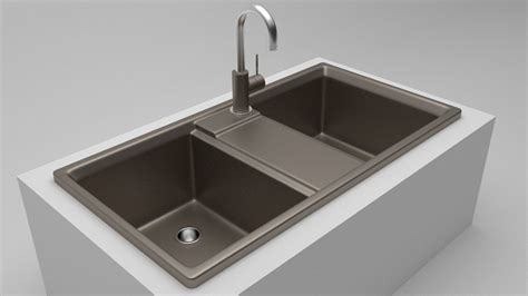 kitchen sink models 3d model kitchen sink 2 vr ar low poly obj 3ds fbx