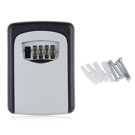 wall mounted locking wall mounted 4 digit combination key storage security safe