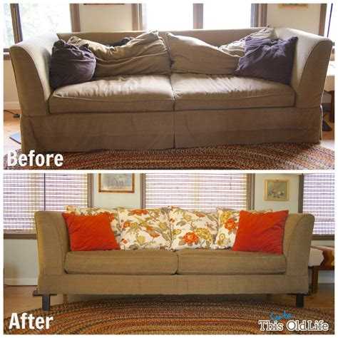 Cushioned Bench A Diy Sofa Makeover