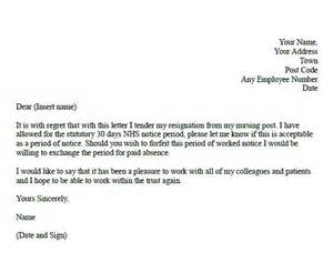 Exle Of Resignation Letter For Nurses by Formal Resignation Letter For Nurses Forums Learnist Org