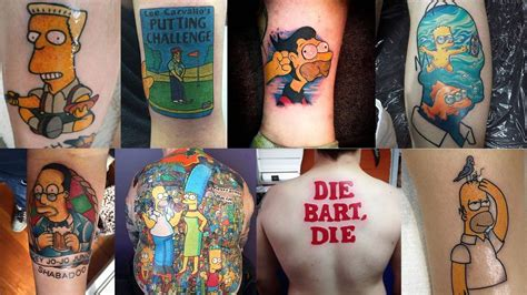 the simpsons tattoo the top 50 best simpsons tattoos of 2015 four finger