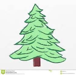 christmas tree sketch royalty free stock photos image