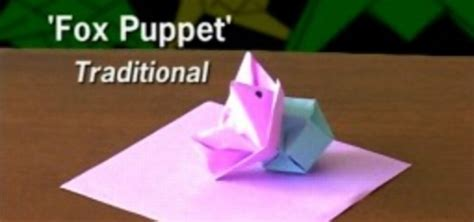 Origami Fox Puppet - how to fold an origami fox puppet 171 origami wonderhowto