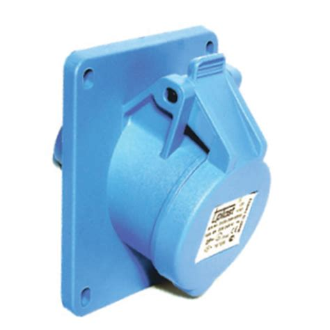 Surface Mounting 3x32a 3x32a panel mount socket outlet angled 83x90 base ip44
