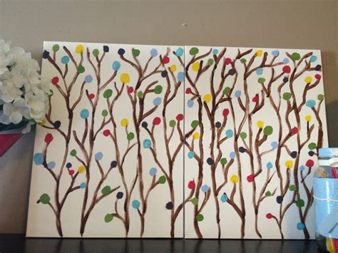 can you paint acrylic on canvas diy artwork using canvas boards from dollarama and acrylic