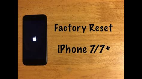 iphone factory reset factory reset iphone 7 7 plus reset to factory settings