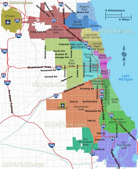 chicago map in usa maps update 7281190 top tourist attractions map in