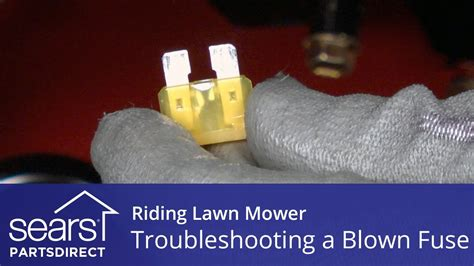 troubleshooting  blown fuse  riding lawn mower youtube