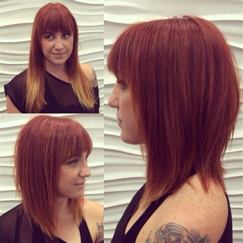 edgy a line hairstyles edgy copper a line haircut hair and makeup pinterest