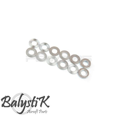 M4 Baut Pinion 4 X 5mm balystik washer set for ptw motor pinion gear ba wsm12