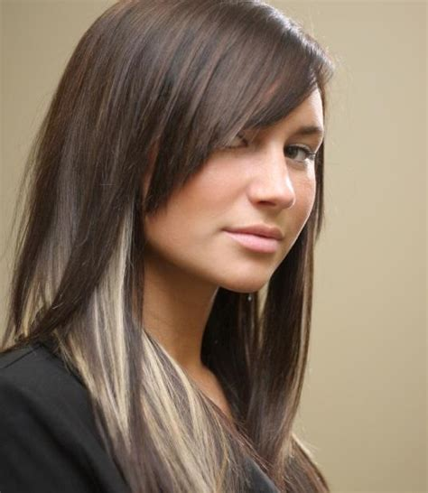 lowlighting the hair under the top layer pictures of dark hair with highlights