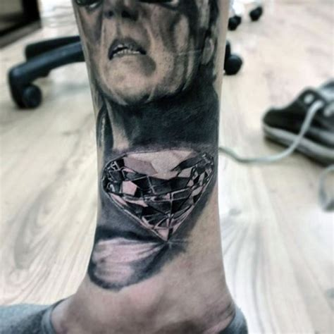 pure ink tattoo gorgeous 3d like black ink on leg