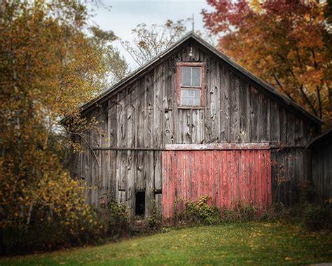 Farmhouse Decor Grey Barn Landscape Barn Art By The Barn Landscape