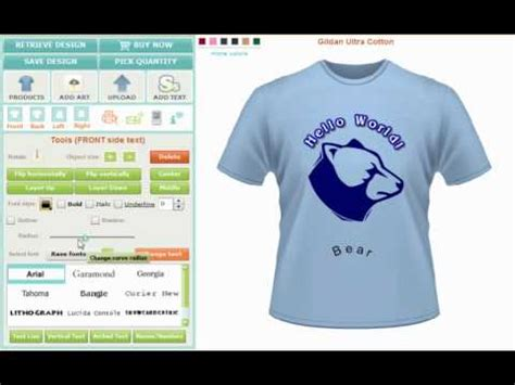 free t shirt layout maker custom tshirt design software and application tool
