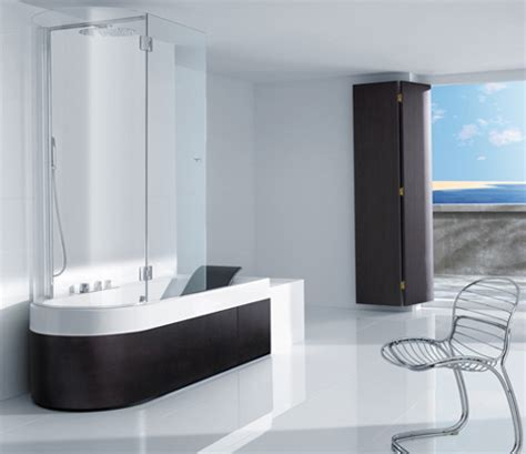 combined shower and bathtub shower tub combination from roca happening combination