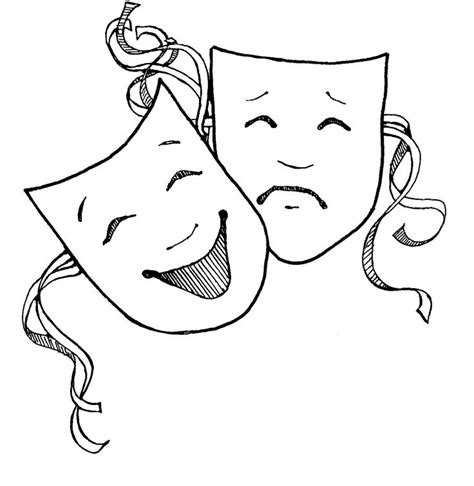 Theatre Mask Outline by 1000 Ideas About Drama Masks On Mask Theatre And Tattoos