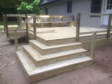 Deck Corner Stairs Design Deck With Corner Stairs And Grill Bump Out Pro Construction Forum Be The Pro