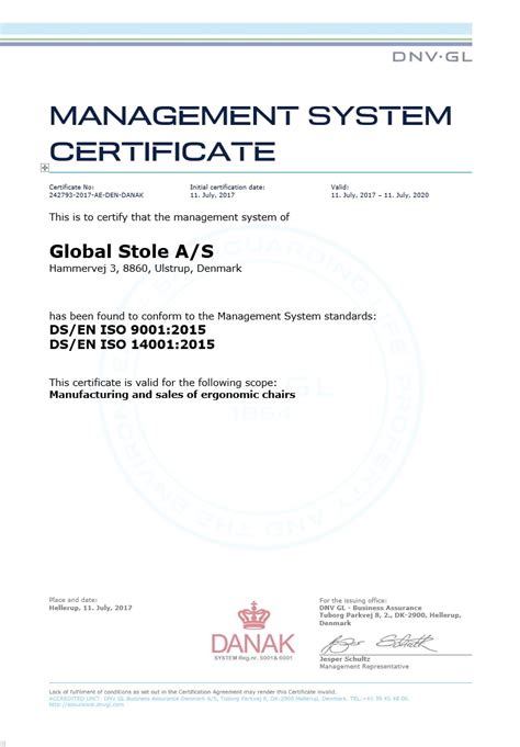 design management certificate iso management system certificate