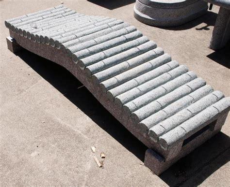 granite garden bench granite bamboo bench