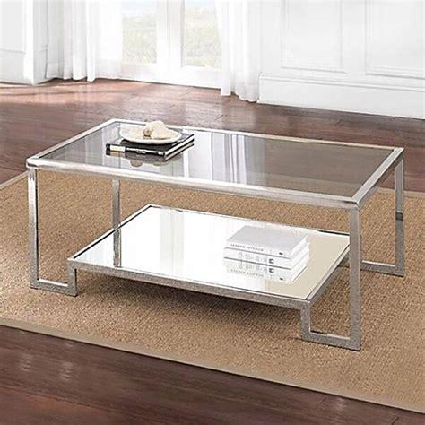 Steve Silver Co Churchill Sofa Table In Chrome Bed Bath Steve Silver Co Churchill Cocktail Table In Chrome Bed