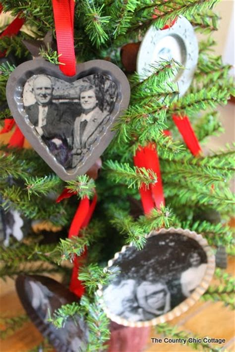 handmade gift family tree ornaments  country chic