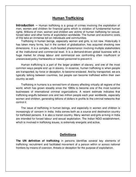 Human Trafficking Essays by Human Trafficking