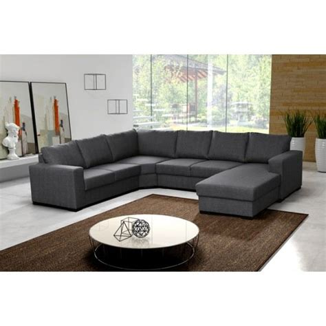 grand canape grand canap 233 d angle 6 places oara gris achat vente