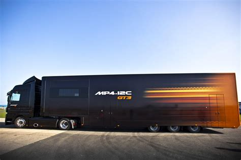 mclaren truck mclaren unveil the mp4 12c gt3 race car