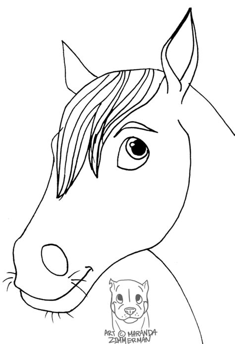 best photos of horse face coloring page cartoon horse