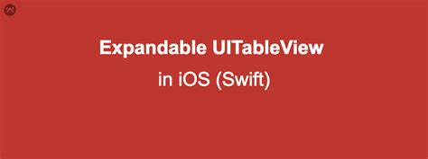 expandable tableview swift expandable table view ios swift mobikul