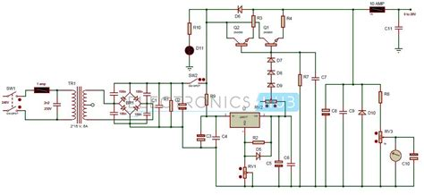 2n3055 transistor switch circuit diploma 0 28v 6 8a power supply circuit using lm317 and 2n3055