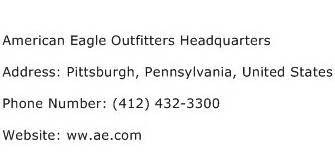 American Airlines Corporate Office Phone Number by American Eagle Outfitters Headquarters Address Contact