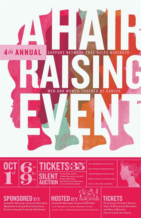 design event poster harvest amik hair raising event poster 2012